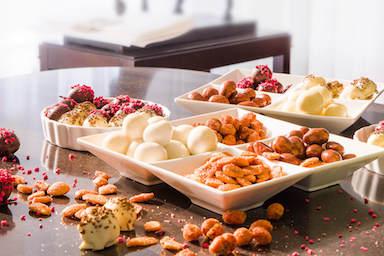 Bílé misky z čínského porcelánu na ořechy, sušené ovoce a jiné pamlsky | Fru'Tree